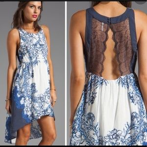 Blue White Russian Plate Dress